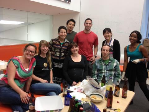 Friday happy hour for Ineke's going away party!